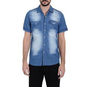 Camisa-de-jean-manga-corta-hombre